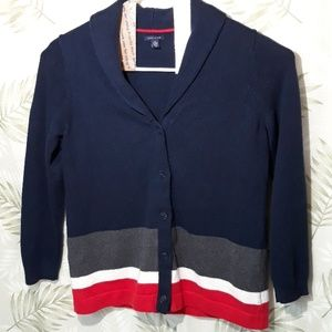 Vintage 90s Tommy Hill figure cardigan sweater